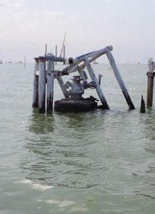 160424 Galveston Bay well stub hazard