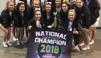 Santa Fe High School Cheerleaders competed in the Cheer America Championships National Competition