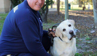 PET THERAPY FOR DEPRESSION FIREFIGHTERS AND FIRST RESPONDERS GATHER TO HONOR FELLOW FIREFIGHTER
